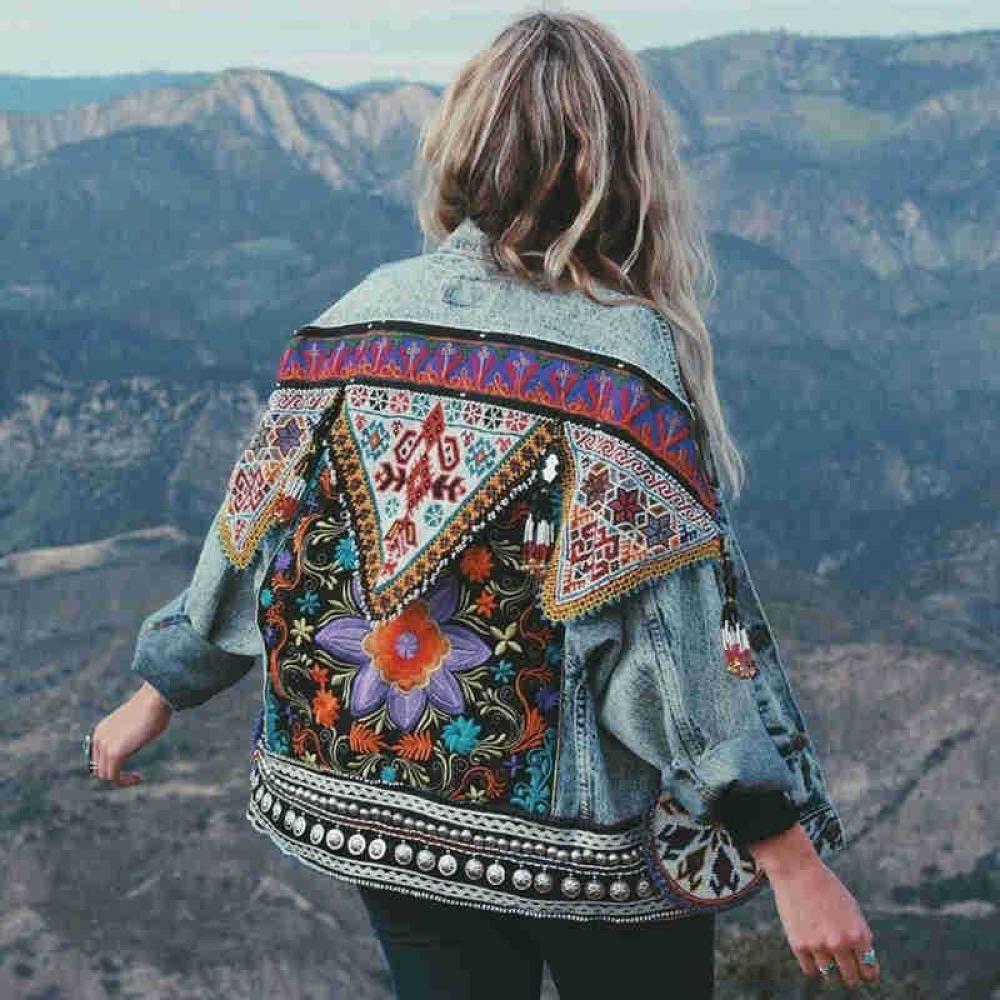 TEELYNN boho Denim jacket for women autumn floral appliques Embroidery vintage coat long sleeve Outerwear female jacket coatee  #cute #beauty https://t.co/DnUbRpESp4 https://t.co/NdYnqNnlbv