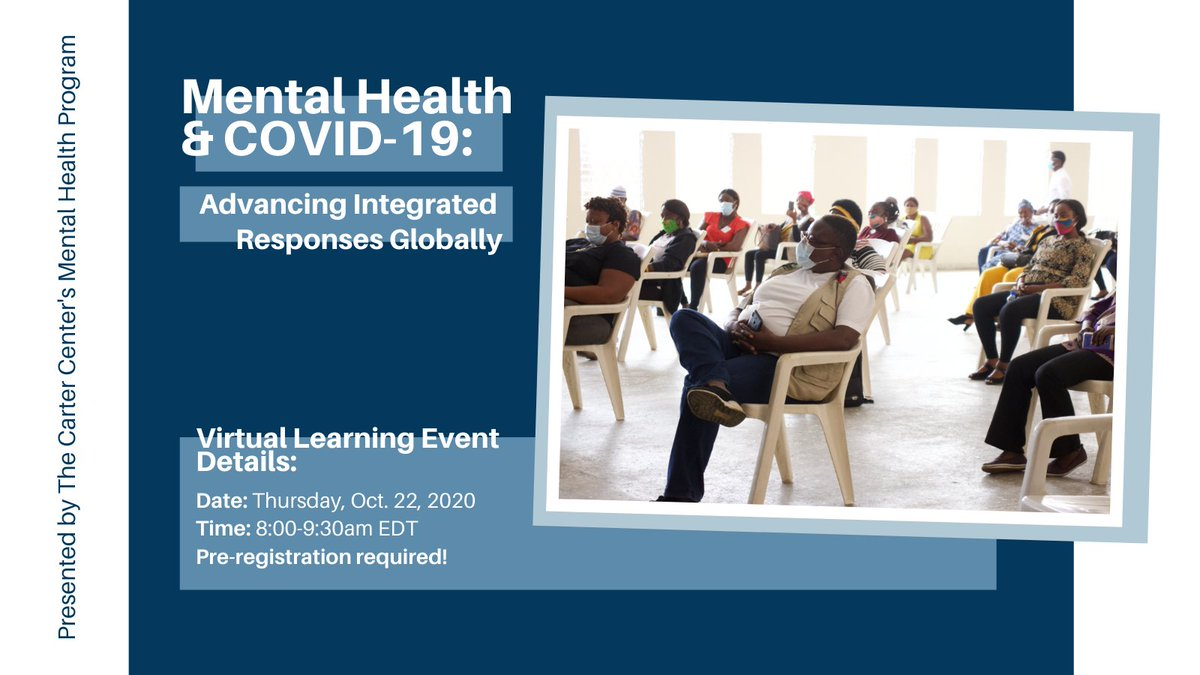 TUNE in TOMORROW! Join our discussion about #mentalhealth & #Covid19 in Liberia, Sierra Leone, and Haiti.  Register here: https://t.co/oGbwSCfWaD