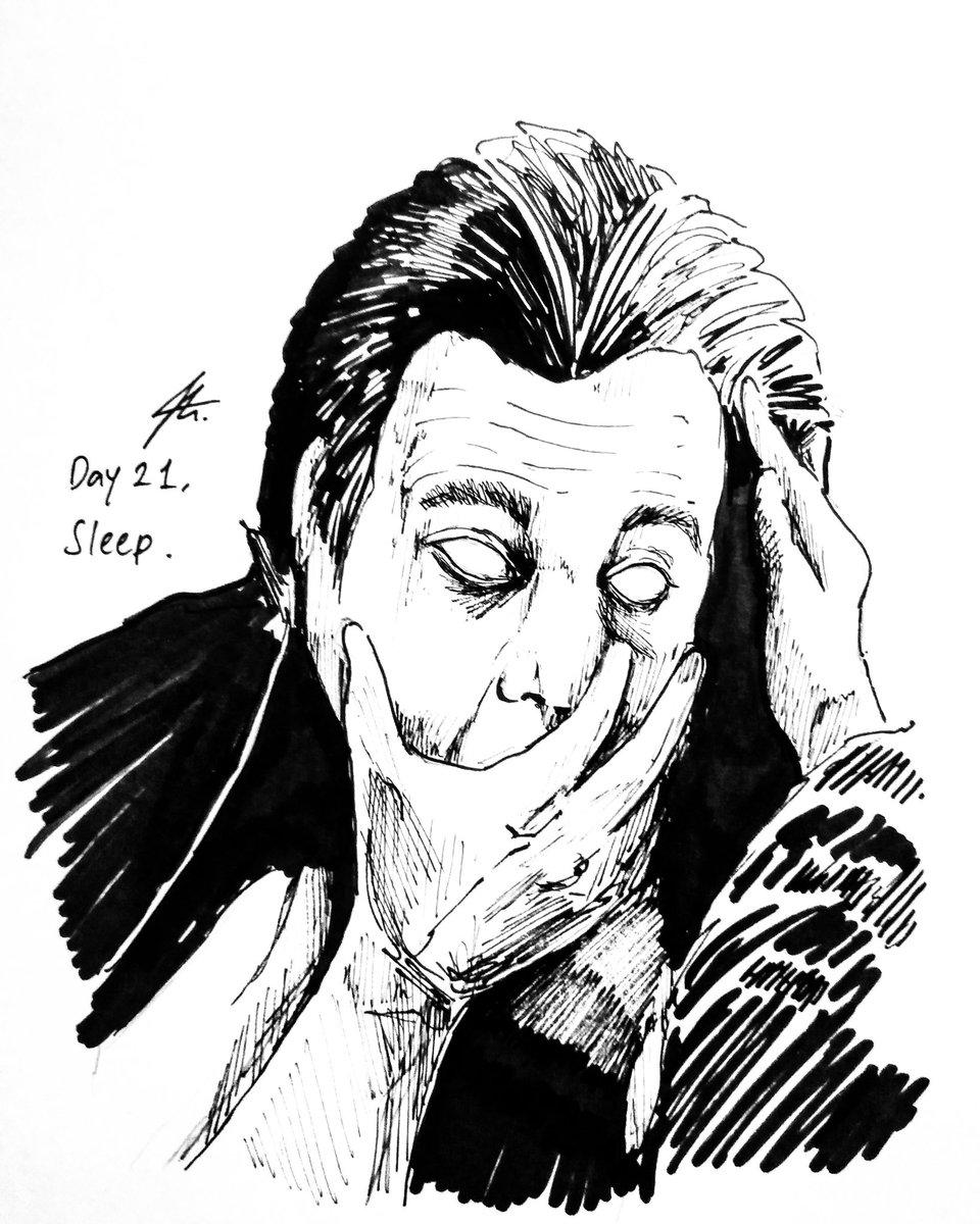 "HAMPIR TELAT, BUT HERE YA GO . #inktober day 21. . ""SLEEP"" ink on A5 paper. #sketsajojo #inktober2020 #inktoberindonesia #inktoberindonesia2020 #doctorsleep #stephenking #theshining #stanleykubrick #art #inkart #sketch https://t.co/Arf5tokEmY"