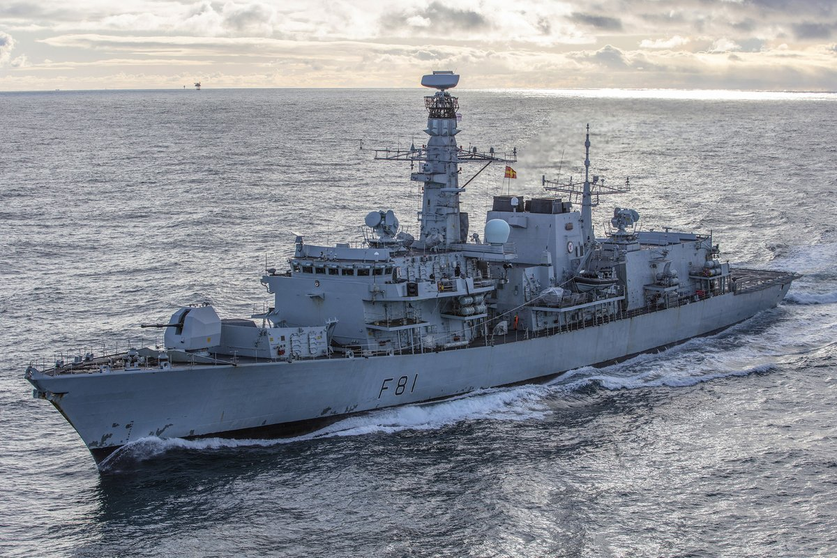 If you want to see @HMSSutherland at sea for the last time until 2023... shes due in Plymouth at 0830 on Friday. After 5 years tasking from Sydney to the North Cape, the Fighting Clan becomes the last T23 to get a Life Extension upgrade keeping her in service to 2032.
