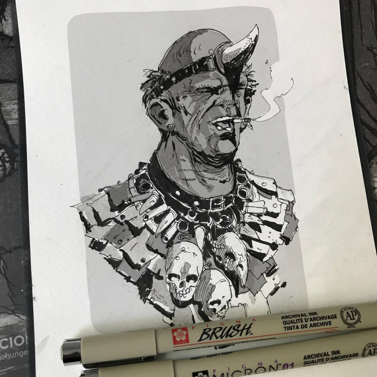 "21. Earth Ad  ""Oh, doom on earth as it is in hell We'll see you dead and like it""  #Misfits #ink #sketch #art #illustration #inktober2020 #inktober #skulls #Doom #scifi #conceptart https://t.co/D6lWykxMg0"