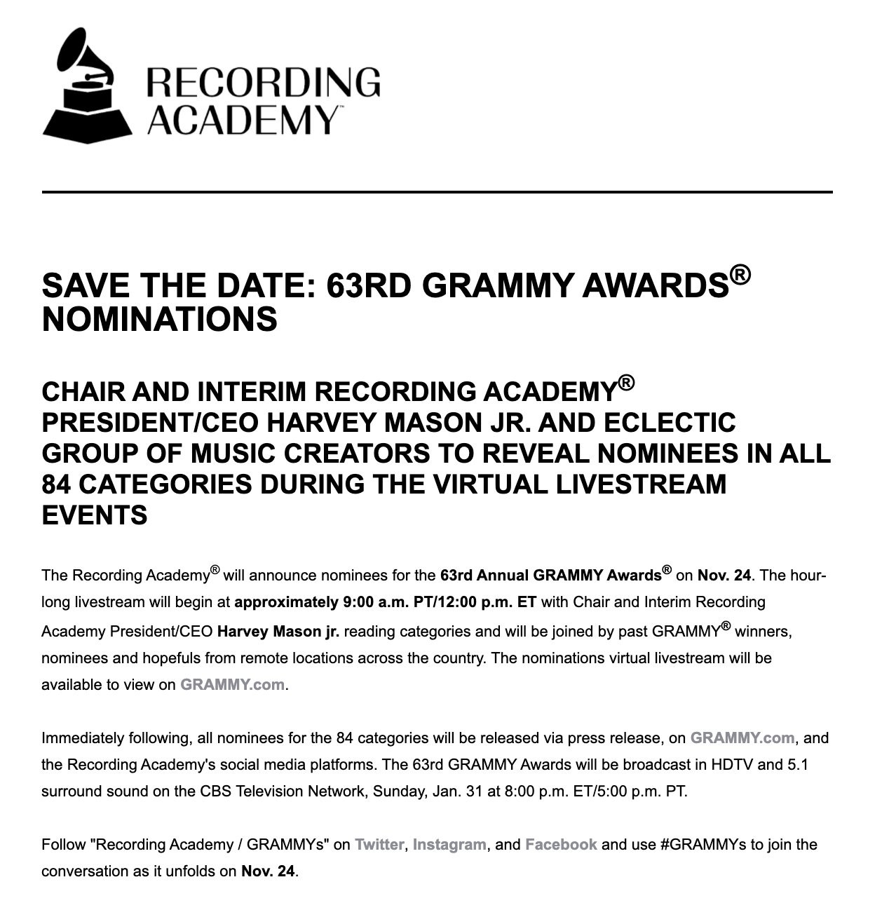 2021 Grammy predictions: Album of the Year (Part 6 ...