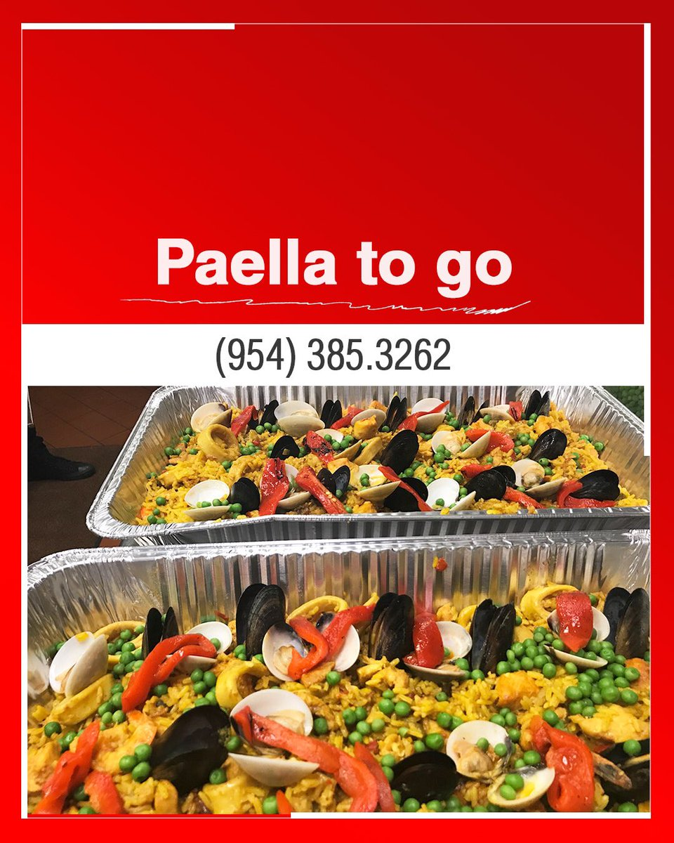 Enjoy our very tasty paella from the comfort of your home. Call us (954) 385.3262⁣  #cometoentretapas #weston #davie #florida #food #paella #sawgrass #paellalover ⁣ https://t.co/UrDvLcIkye