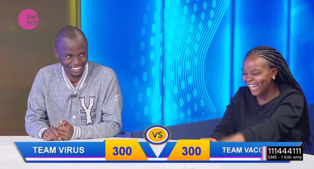 "Ati @freddiebudaboss anasema ""The virus is at par with the vaccine"" 😂 Which team will win tonight? #TheQuizShow #WednesdayWisdom #WednesdayVibes"
