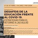 Image for the Tweet beginning: 📣¡Vuelven los #DiálogosEducadores! El 27/10
