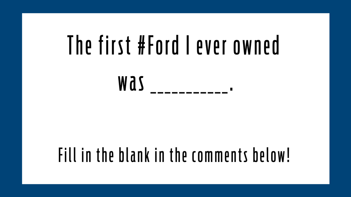What was the first Ford you ever owned? Share with us below! 👇  #ford https://t.co/JL2SjhmtPA