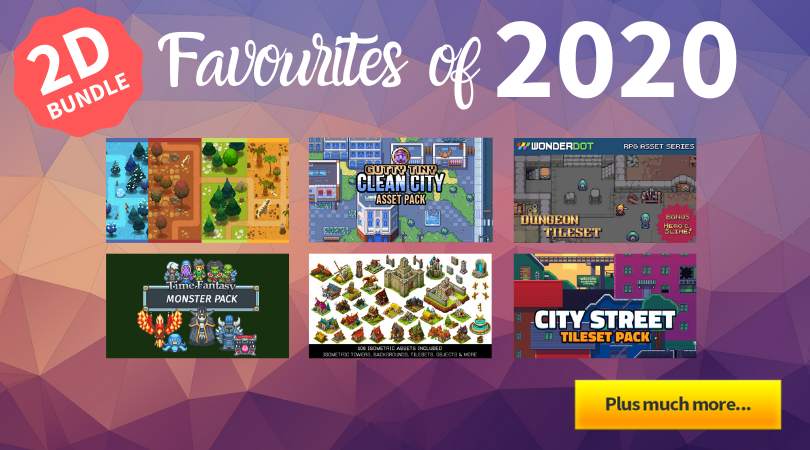 🚨 PRICE DROP!!!🚨   2D Favourites Of 2020 Bundle 😎 🕹️ 🖥️  An assortment of our most popular 2D assets throughout this year (so far) for you to grab at a discounted price!  https://t.co/monQgHw1Hy #indiegames #gamedev #indiedev #gaming #indie #week #indiegamedev #pixelart https://t.co/vchDWC9fZo