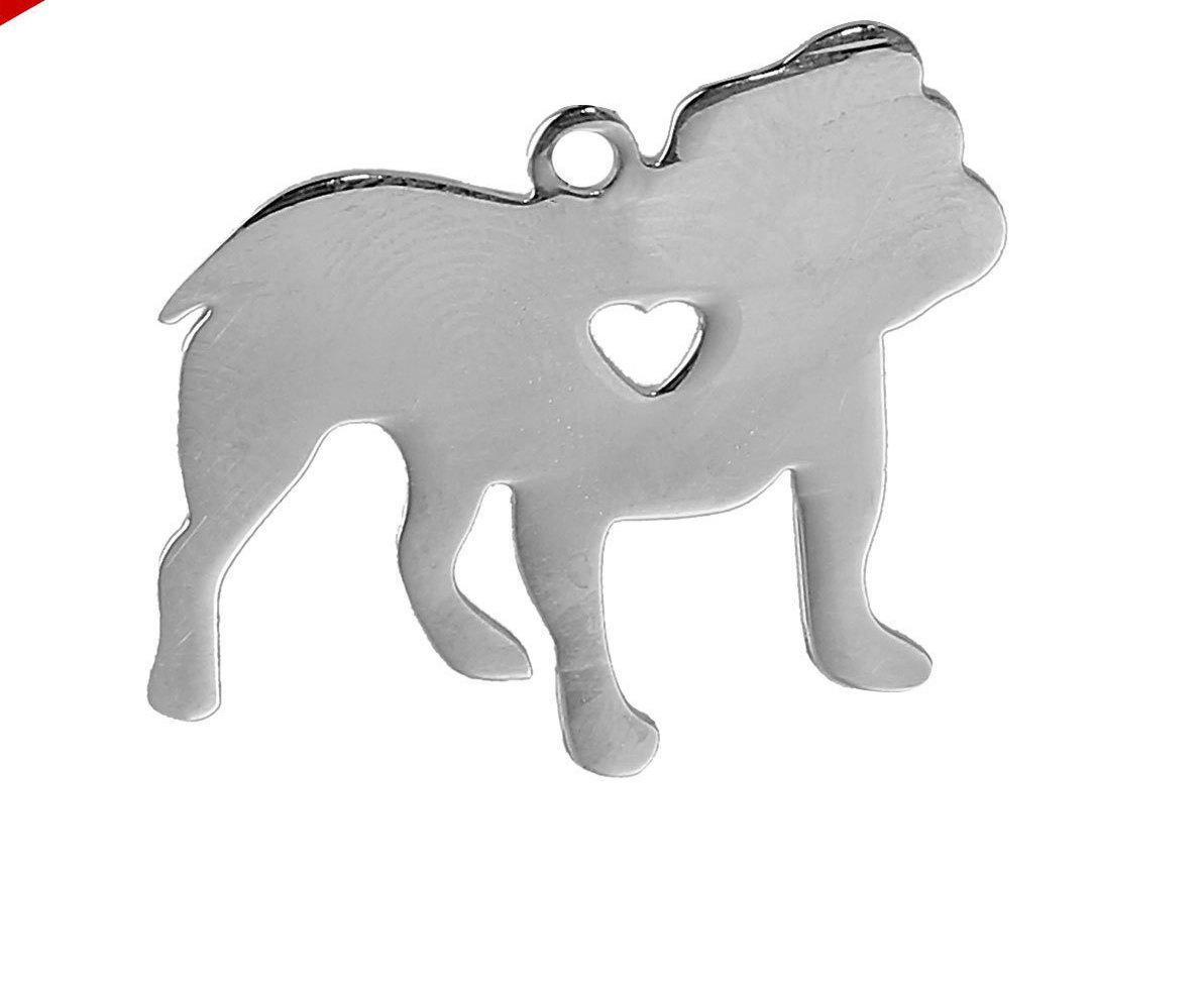 Metal charm blanks, Bulldog Dog Charm Stainless Steel, Dog Stamping Blank, Dog Blank, Stamping Supplies, Bulldog Pendant, 0504, 746 https://t.co/RqRHQTZFdU #VickysJewelrySupply #stampingsupplies #cabochons #Etsy #letterbeads #Beads #PersonalizedCharms https://t.co/hMDGxKAnKt