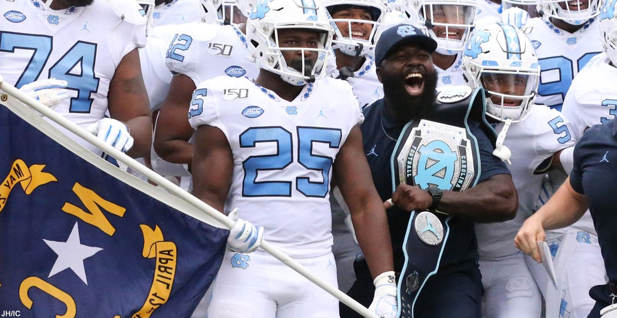 A.J. Blue's story is filled with examples of the unbreakable human spirit. The former #UNC football player continues to have a major impact on the program. Longform: https://t.co/NTbINm6pkM https://t.co/KlFvgd6afA