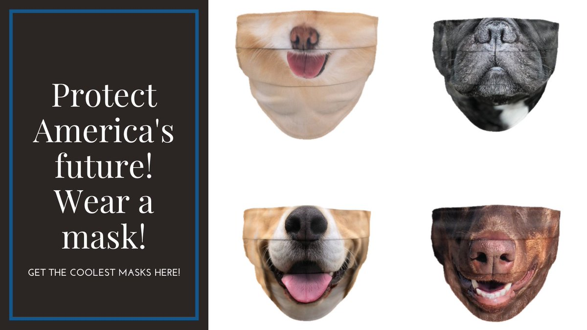 Do your part to protect your country! Get a mask today!  The most important thing you could buy right now is a face mask. Never risk your health for anyone! Plus, we have masks that are great for Halloween! #facemasks #masks #covid #Halloween  https://t.co/bkZIenyV0j https://t.co/sUwcVlFM5b