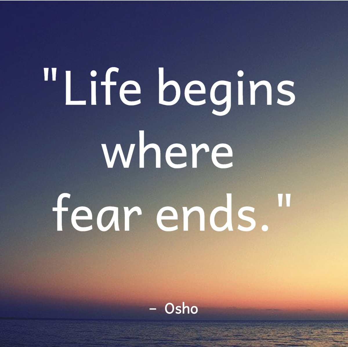 """Life begins where fear ends."" ― Osho   • • •  #Osho #WednesdayWisdom #inspirationalquotes #inspiration #GinaMadeya #dowhatyoulove #lovewhatyoudo #liveyourpassion #followyourdreams https://t.co/dsl70sBaEb"