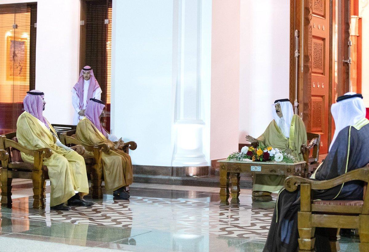 العاهل البحريني الملك حمد بن عيسى آل خليفة يستقبل وزير الخارجية السعودي الأمير فيصل بن فرحان في قصر الصافرية  https://t.co/5t3eIvPjBE https://t.co/7PVJGx2mKx