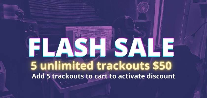 *** FLASH SALE *** 5 unlimited trackouts $50 (Add 5 trackouts to cart to activate discount) SHOP > https://t.co/J2DnVTJABR #beatproducer #beatmaker #beatsale https://t.co/CtR5cp47u9