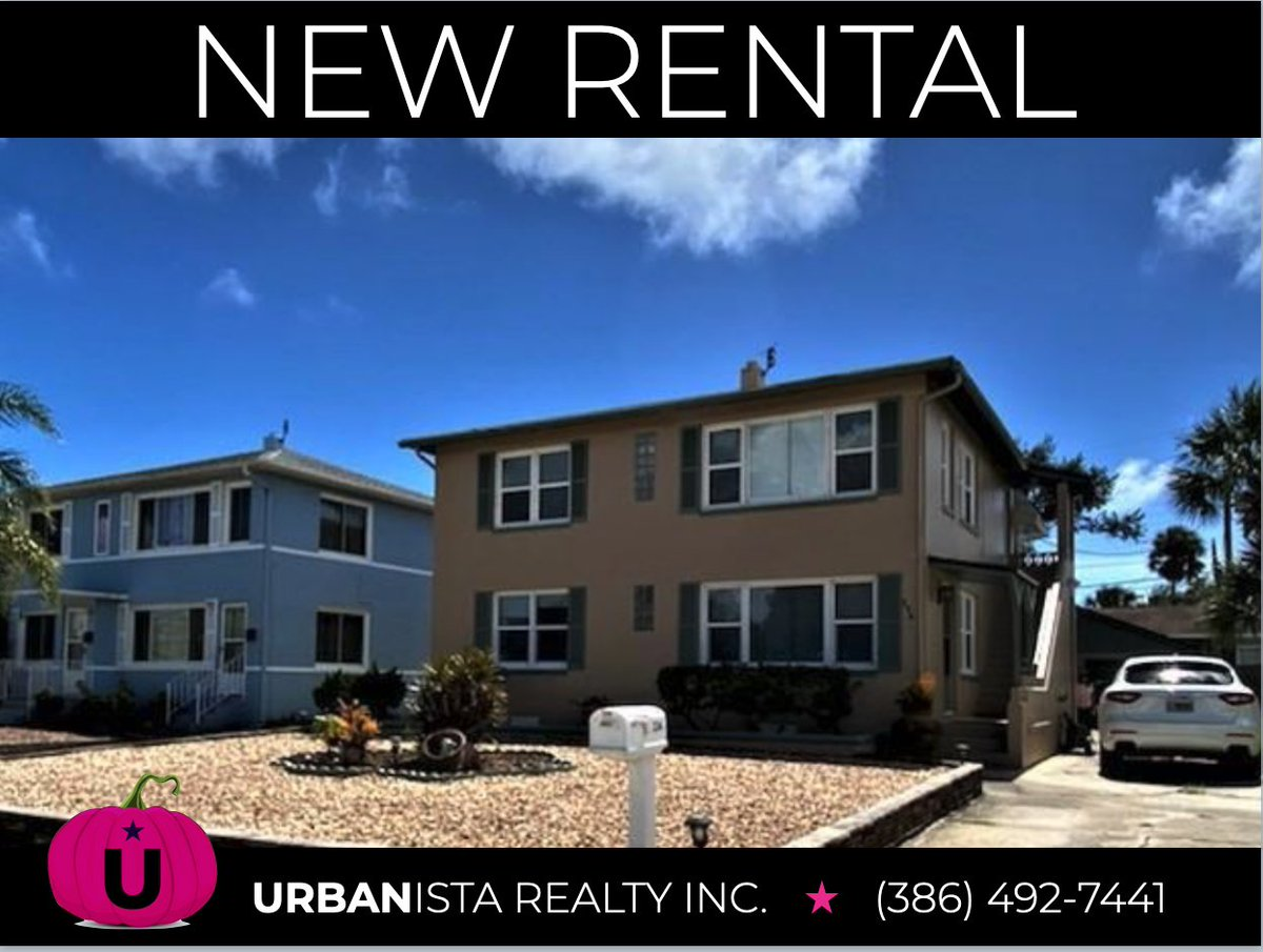 Charming 2 bed 2 bath upstairs unit located two blocks from the beach. Furnished duplex with a deck overlooking the backyard. For rent weekly or monthly. Call our team 386-492-7441 for details #weeklyrental #forrent #monthlyrental #daytonabeach #floridarental #duplex https://t.co/BxqWhQFFrh