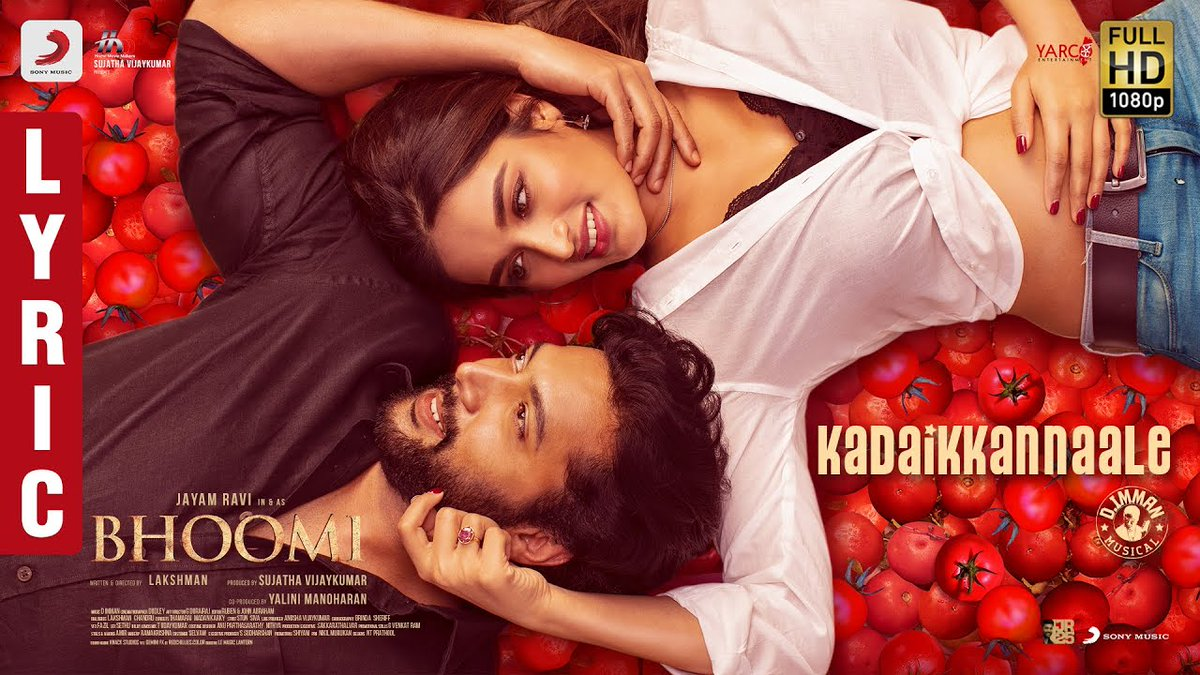 Here is the Romantic Melody Song #KadaiKannaaley from @actor_jayamravi's #Bhoomi Crooned by @shreyaghoshal !  An Instant addict 👉 https://t.co/glHuWk1dde  An @immancomposer musical  @AgerwalNidhhi @dirlakshman @theHMMofficial @sujataa_hmm @Kavithamarai @SonyMusicSouth https://t.co/7Wk0l6kYoS