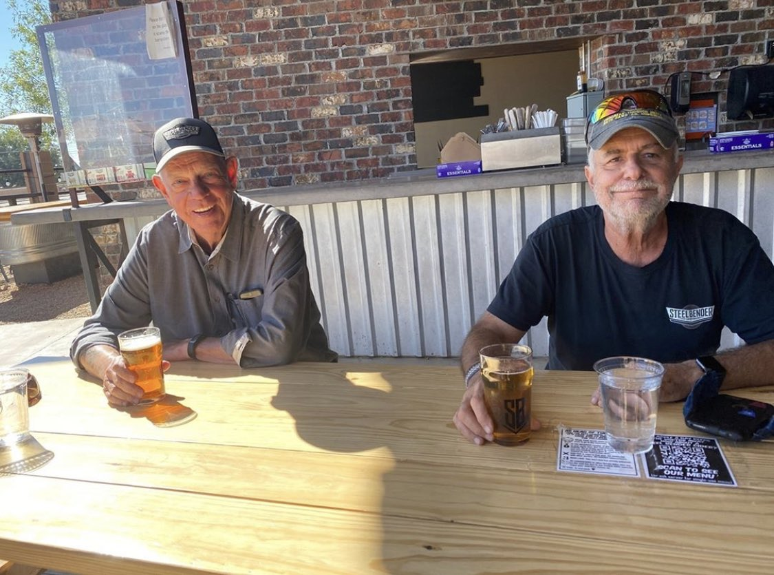 What makes us smile? Daily visits from Al & Ralph. ⁠ #Staystrong, #NewMexico. #maskup, #protecteachother, and #bekind. That's how we do this. ⁠ STRONGER. BECAUSE WE'RE BENDING STEEL TOGETHER. ⁠ #builttobrew https://t.co/xISTfwaOdt