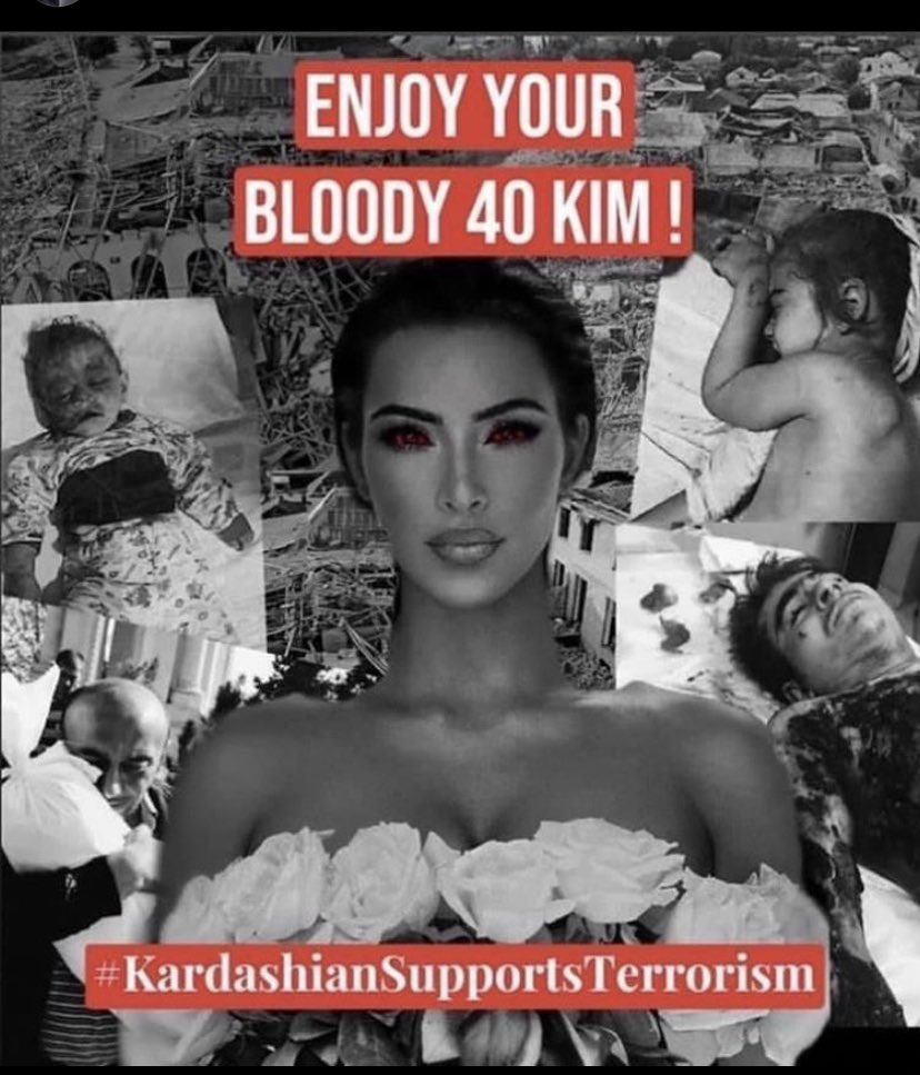 Women who funds terrorism in Armenia to kill civilians. @KimKardashian #kimkardashiansupportsterrorism #StopArmenianAggression @Telegraph https://t.co/0hwOLEDnI5