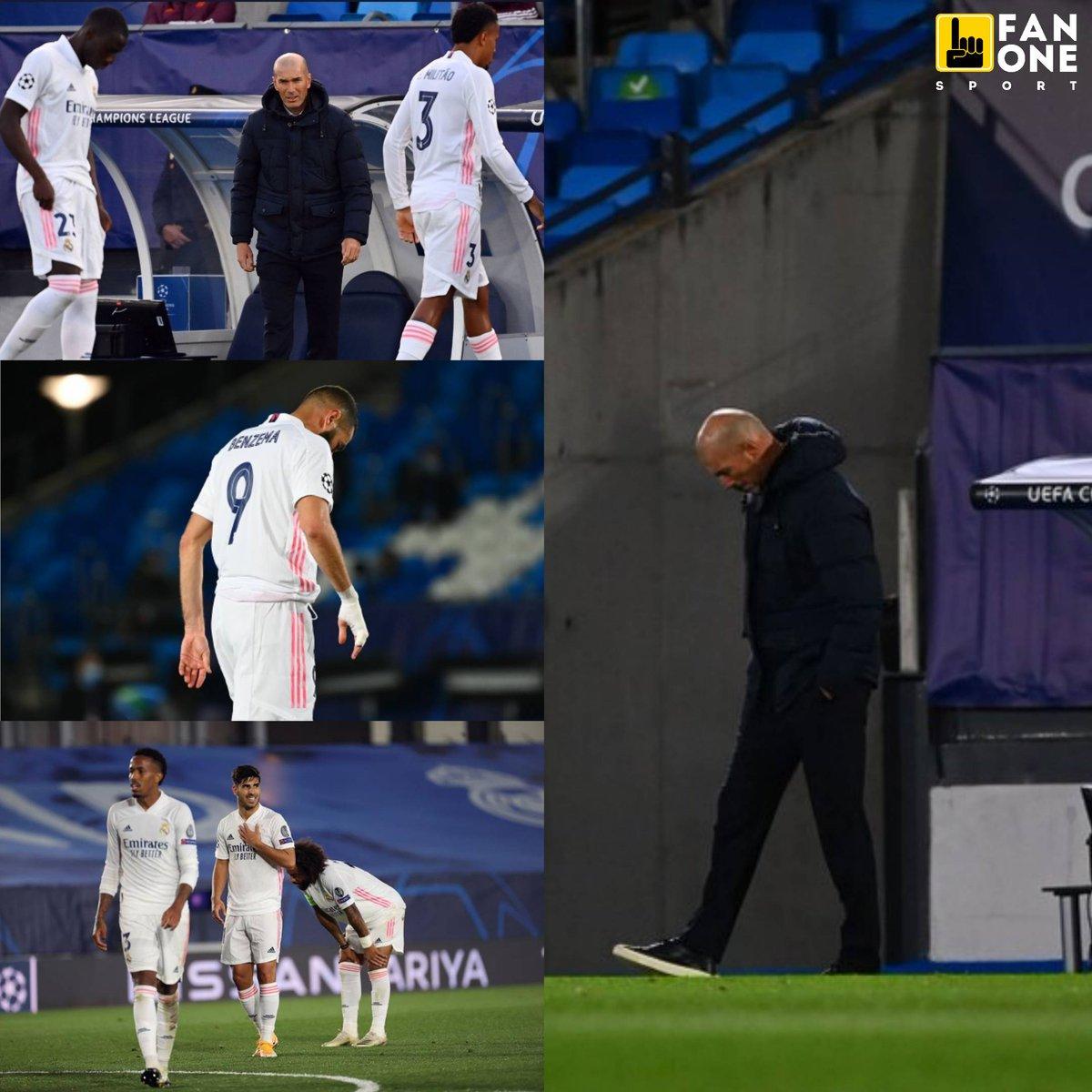 SEMANA COMPLICADA ❌ . 🚫 El Real Madrid cayó como local por 3-2 ante el Shakhtar Donetsk. . ➡️ Los dirigidos por Zidane sumaron su segunda derrota consecutiva, anotaron 2 goles y recibieron 4 en tan solo 5 días: . ❌ 0-1 vs. Cádiz (17/10) ❌ 2-3 vs. Shakhtar Donetsk (21/10) https://t.co/cWDU7sDwAq