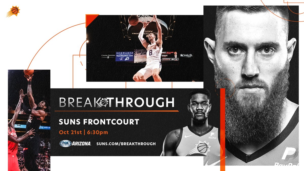 Tonight is all about the @Suns bigs. 'Breakthrough' Episode 3 debuts at 6:30 PM.