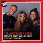 Image for the Tweet beginning: The @Afronationshow is on now!  For
