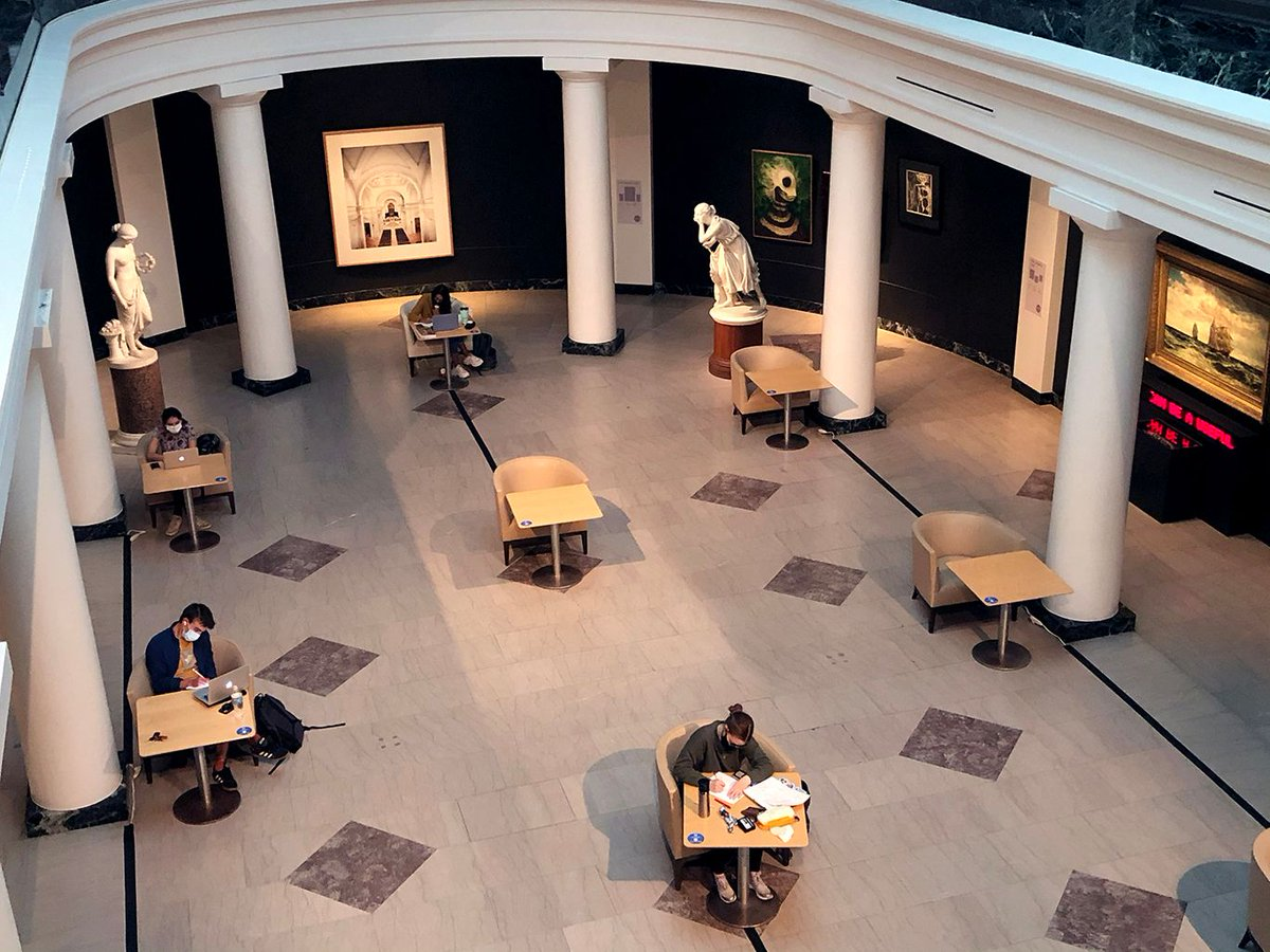 Virtual 3D models, physically distanced study pods, and more: how campus museums like @spelmanmuseum, @BowdoinMuseum, @CantorArts, and @ummamuseum are adjusting to remote learning https://t.co/QduUbHrH53 https://t.co/iiBndg0URk