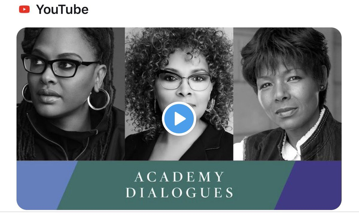 When @TheAcademy asked who I'd like to have on #AcademyDialogues, I dreamed a big dream. It happened. Honored to speak with two of my cinematic heroes! Tomorrow, watch @JulieDash and @EuzhanPalcy together in conversation! We discuss craft, community and the notion of mastery. xo! https://t.co/ZlWhwG8yNT https://t.co/Xli8eKYzui