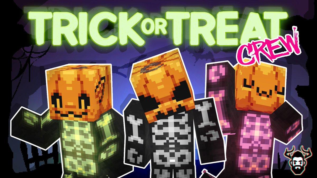 Trick or Treat Crew New Halloween-themed @Minecraft skin pack. minecraft.net/en-us/pdp?id=9…