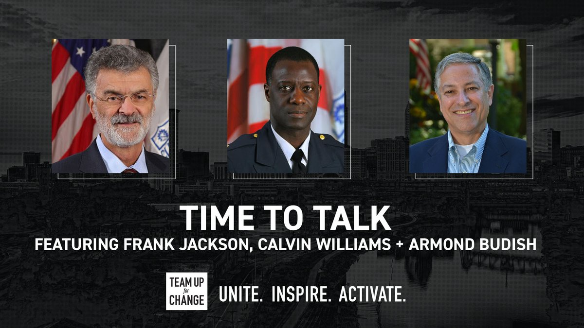 """In 24 hrs we'll launch """"Time to Talk – Cleveland Community Leaders"""" LIVE on Twitter!  Watch as @CityofCleveland's Mayor Jackson, @CLEpolice Chief Calvin Williams and @CuyahogaCounty Executive Armond Budish join us to discuss the declaration that racism is a public health crisis. https://t.co/R3EZpcHd4R"""