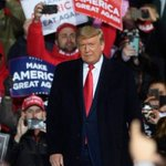 Image for the Tweet beginning: Trump told a rally crowd