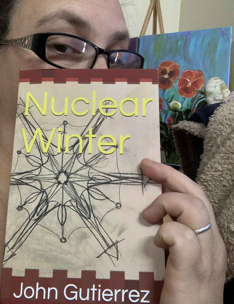 Look what arrived today! Y'all should check out @JGutierrez1309's Nuclear Winter. He's a fellow resident of #NewMexico as well as awriter of #dystopian #fiction!  Into the writing desk you go, John!  #Reading #readingforpleasure #readingcommunity https://t.co/uKmux4DVAc