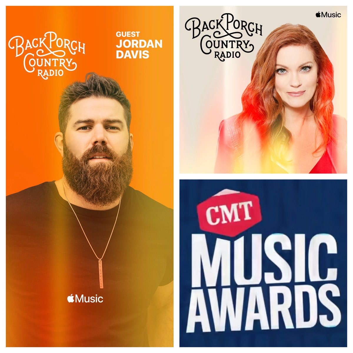 Today on Back Porch Country Radio @applemusic Jordan Davis is on the porch w/ us and I'm featuring a few CMT Award nominees, 6p/ 7ET/ 4PT #backporchcountry #applemusic #jordandavis #CountryMusic