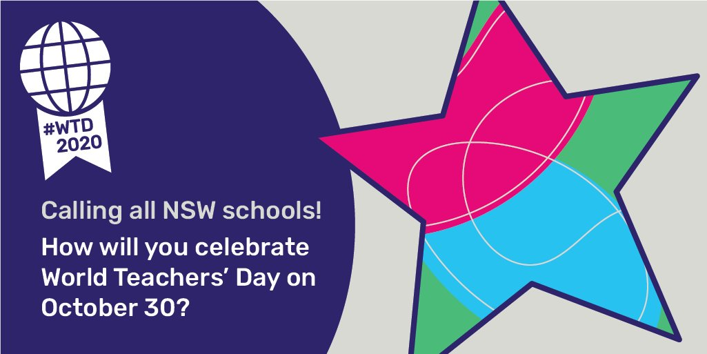 World Teachers Day #WTD2020 is fast approaching. How will you celebrate that amazing job teachers do? https://t.co/cuybszzhb5