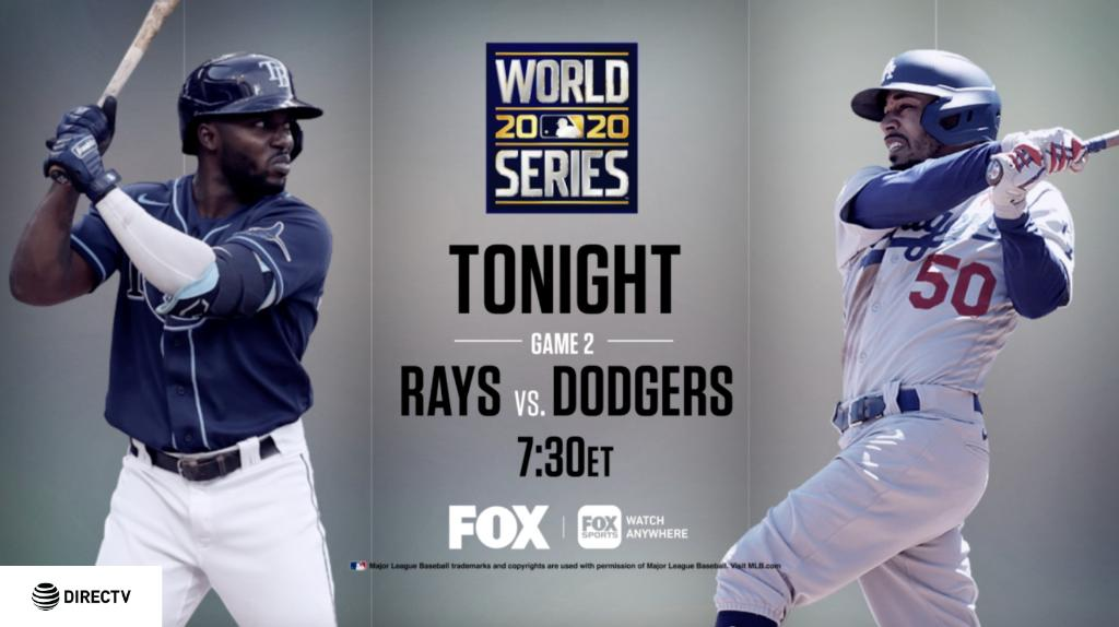 Place your bets: will the @Dodgers or @RaysBaseball come out on top tonight? Game 2 of the #WorldSeries is TONIGHT on FOX 🙌 Catch every strike, steal and home run in 4K on Ch 105! ⚾️