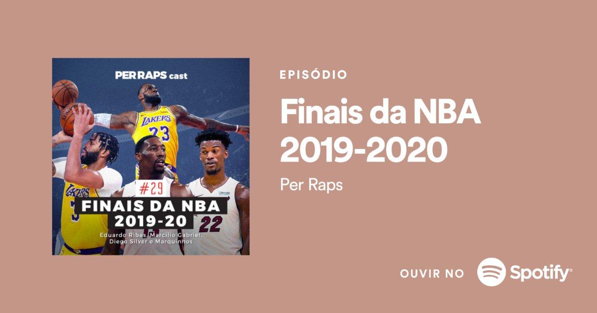 A temporada 2019-20 da NBA chegou ao fim e pra falar disso no Per Raps Cast, reunimos @Duardo, @MarcilioGabriel, @oDiegoSilver e @Markinhos_1984.   Assistiu esses jogos das finais? Então venha relembrar com a gente essa emoção.   Ouça em:  https://t.co/h0UkqFpAEr https://t.co/kpDeNDbwiH