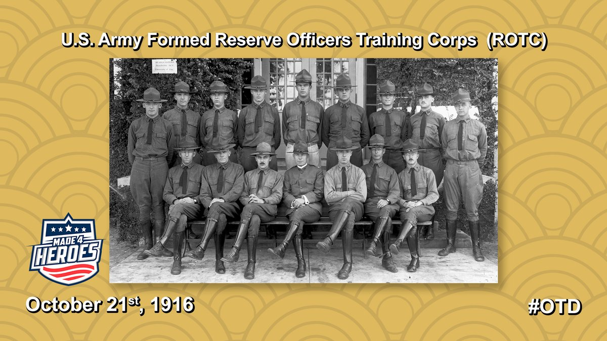 #OnThisDate: October 21st, 1916.   Congress passes the National Defense Act of 1916 which establishes the# ROTC program in universities and colleges across the country. #OTD #military #history #ushistory #army #reserve #today #training #officers #congress #defenseact https://t.co/JZb8G22Wqp