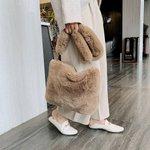 Image for the Tweet beginning: Women Soft Faux Fur Handbags