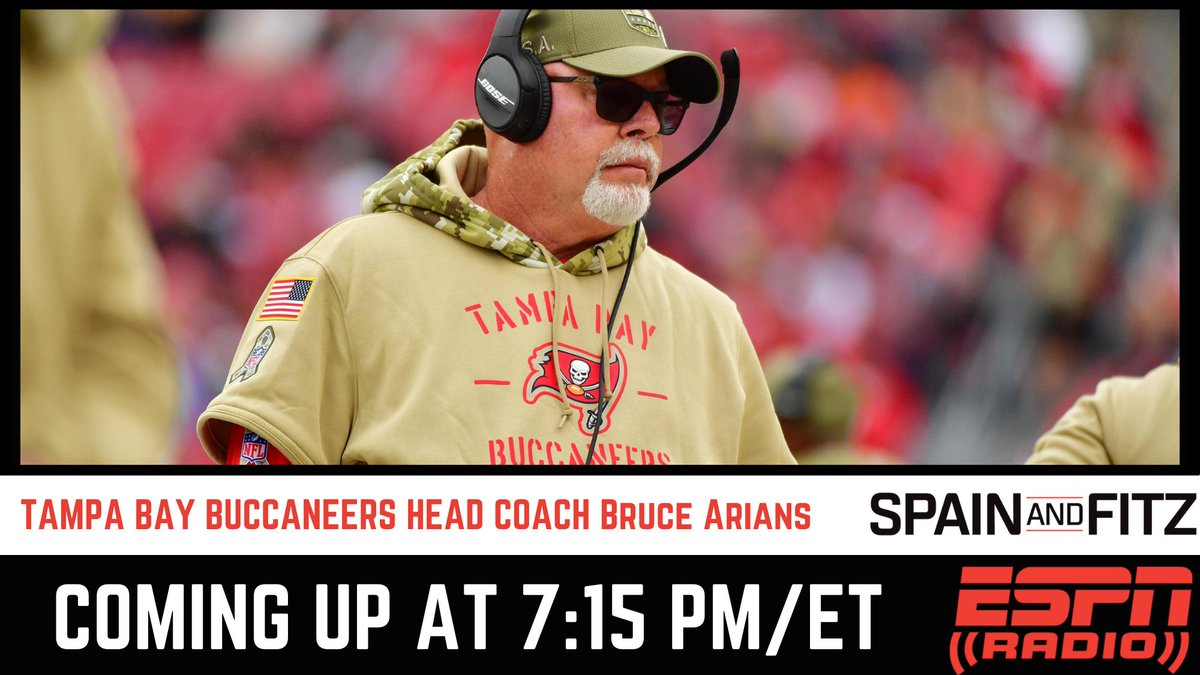 You don't want to miss @SpainandFitz tonight!   Coming up with @jasonfitz is @Buccaneers head coach Bruce Arians. Tune in at 7:15 PM/ ET on #ESPNRadio https://t.co/EVjDsmMF4P