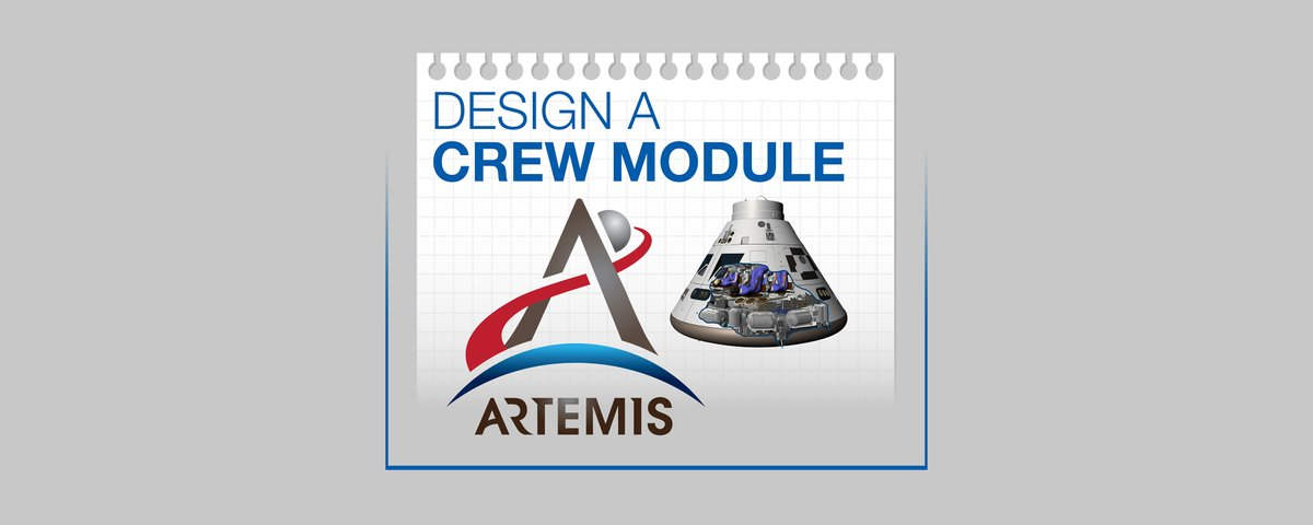 Prepare for Fridays Million Girls Moonshot: Meeting the Artemis Generation Q&A with @AstroJaws by putting your STEM skills to the test today! 🚀 Grab a parent, sibling or fly solo and design a crew module while learning more about #Artemis! 📏✂️ 👩‍🚀👨‍🚀nasa.gov/stem-ed-resour…