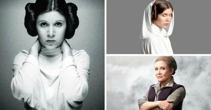 Happy birthday Carrie fisher  Miss you
