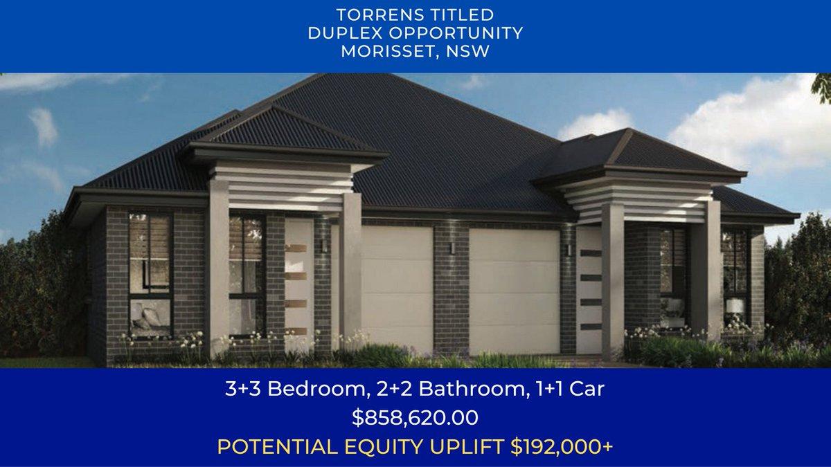 Torrens Titled Duplex Development Morisett, NSW POTENTIAL EQUITY UPLIFT $192,000+ #duplex #investors #duplexdevelopment https://t.co/E738IJBZvR