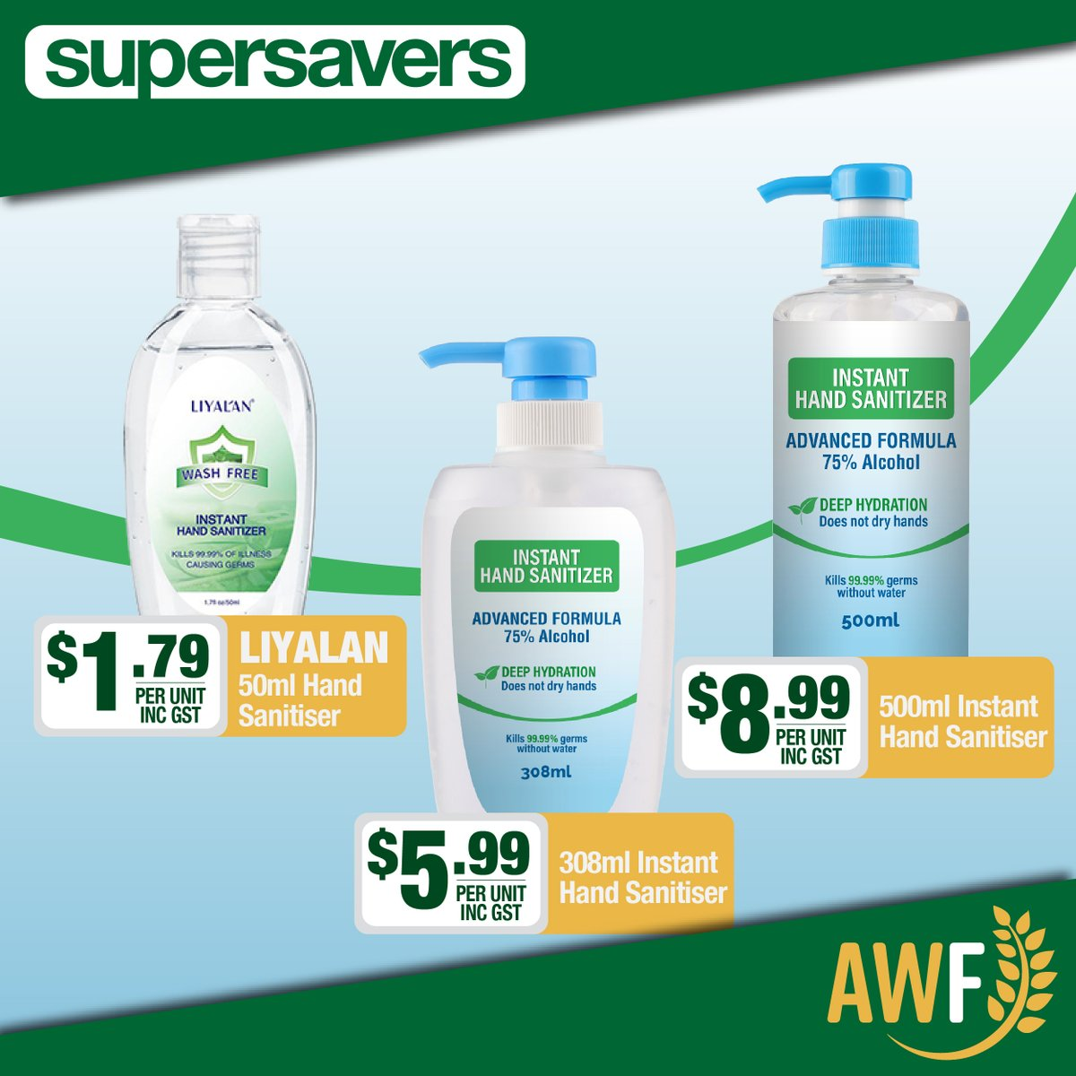 Check out this deal on Hand Sanitiser in this months Spooky Savers!  View it online: https://t.co/4JQiBKD4hX ------------- 📞 Call us: (08) 9041 1424 📧 Email: sales@allwaysfoods.com.au #supersavers #AWF #AllwaysFoods #warehouse #merredin https://t.co/svIB7BDSBA
