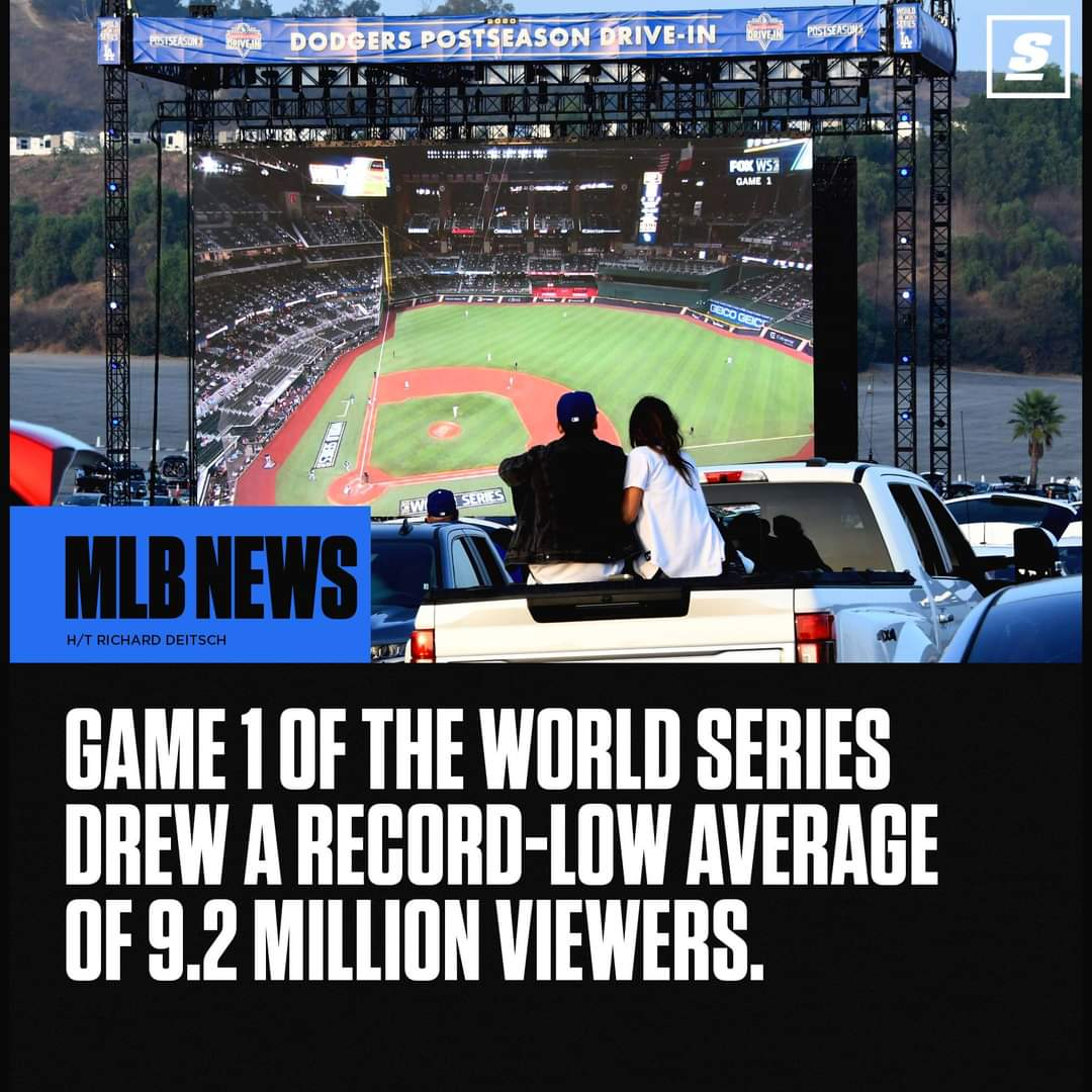 And Game 7 of the NLCS had higher rating than any NBA finals game. Braves vs. Dodgers was prime time television. https://t.co/WJ02kPkemz