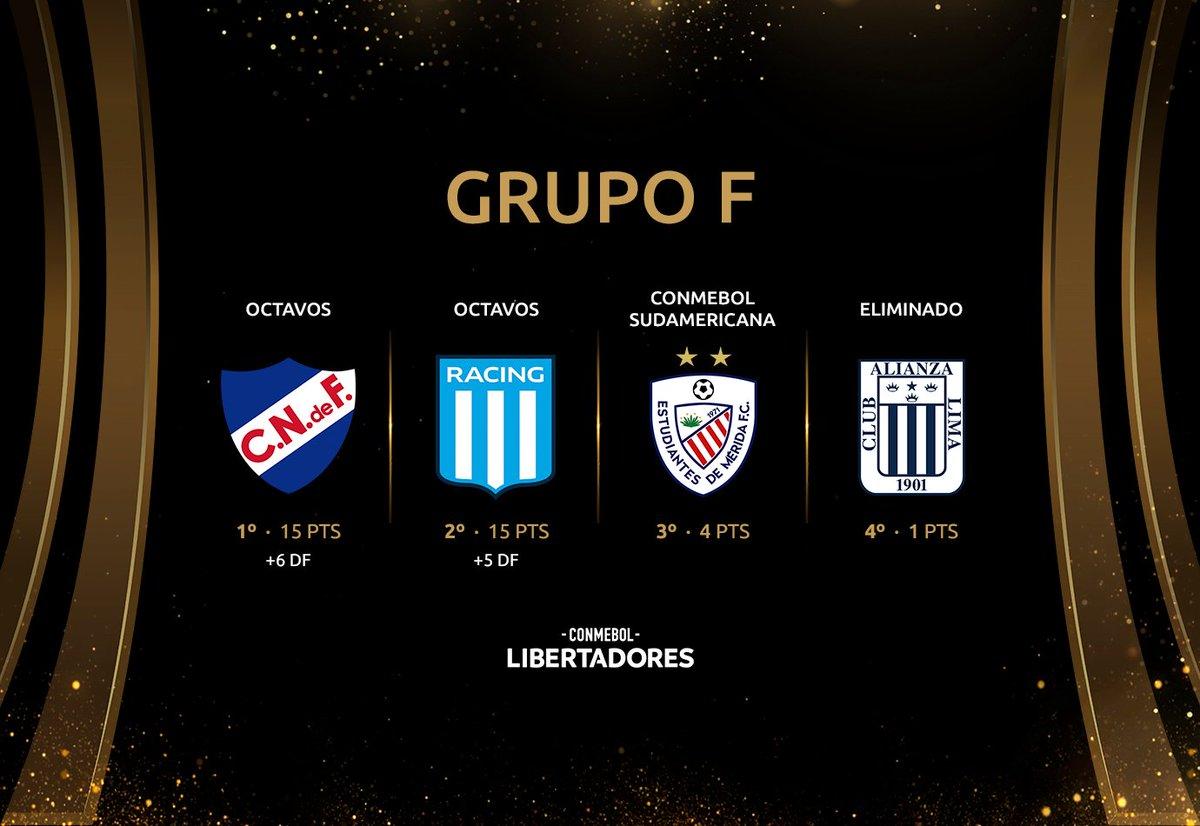⚽ ¡La importancia de los goles! @Nacional es el puntero del Grupo F por diferencia de tantos ante igualdad de puntos con @RacingClub.  @EstudiantesMEFC, a la @Sudamericana https://t.co/yXtu88SLKd