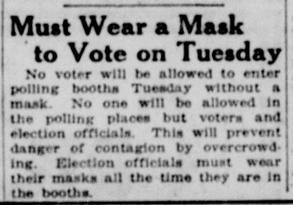 """Today's edition of """"you could reuse this article from 100 years ago in 2020""""  (The Seattle Star, Nov. 2, 1918) https://t.co/zkE2ZxSGid"""