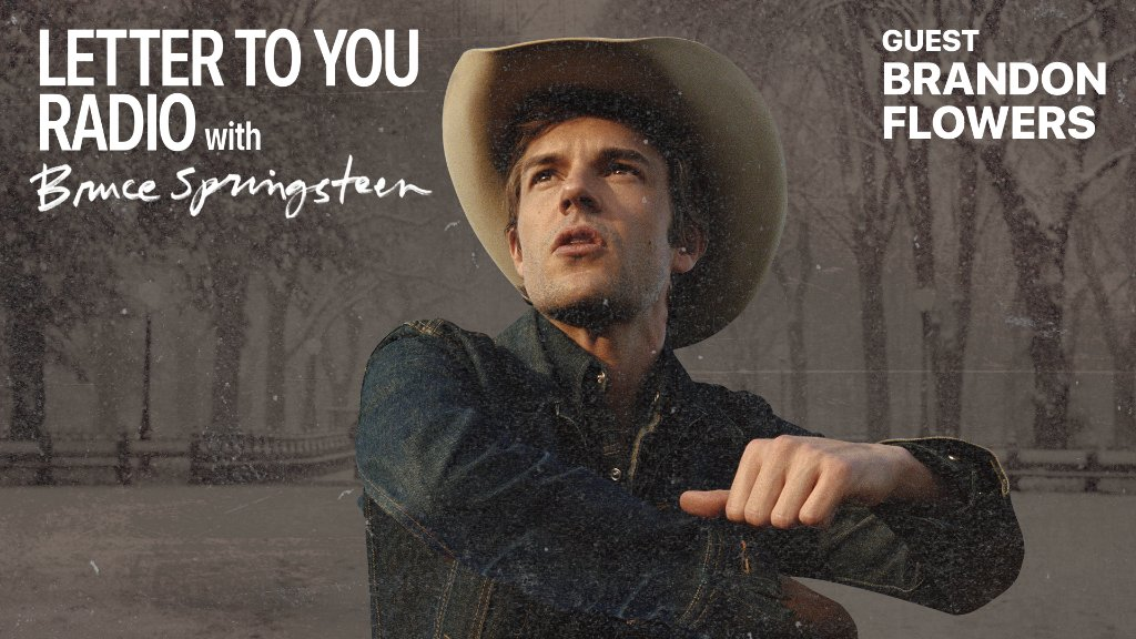 On the third episode of #LetterToYou Radio, @BrandonFlowers of @thekillers joins @springsteen to discuss success and inspiring future generations of artists.  Listen here: https://t.co/RJOIFOgUm0 https://t.co/uzxIY9oSx4