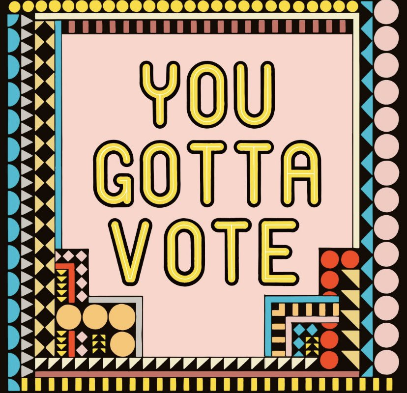 Everybody GO VOTE ASAP! In order to make change, you have to take action. Go vote!
