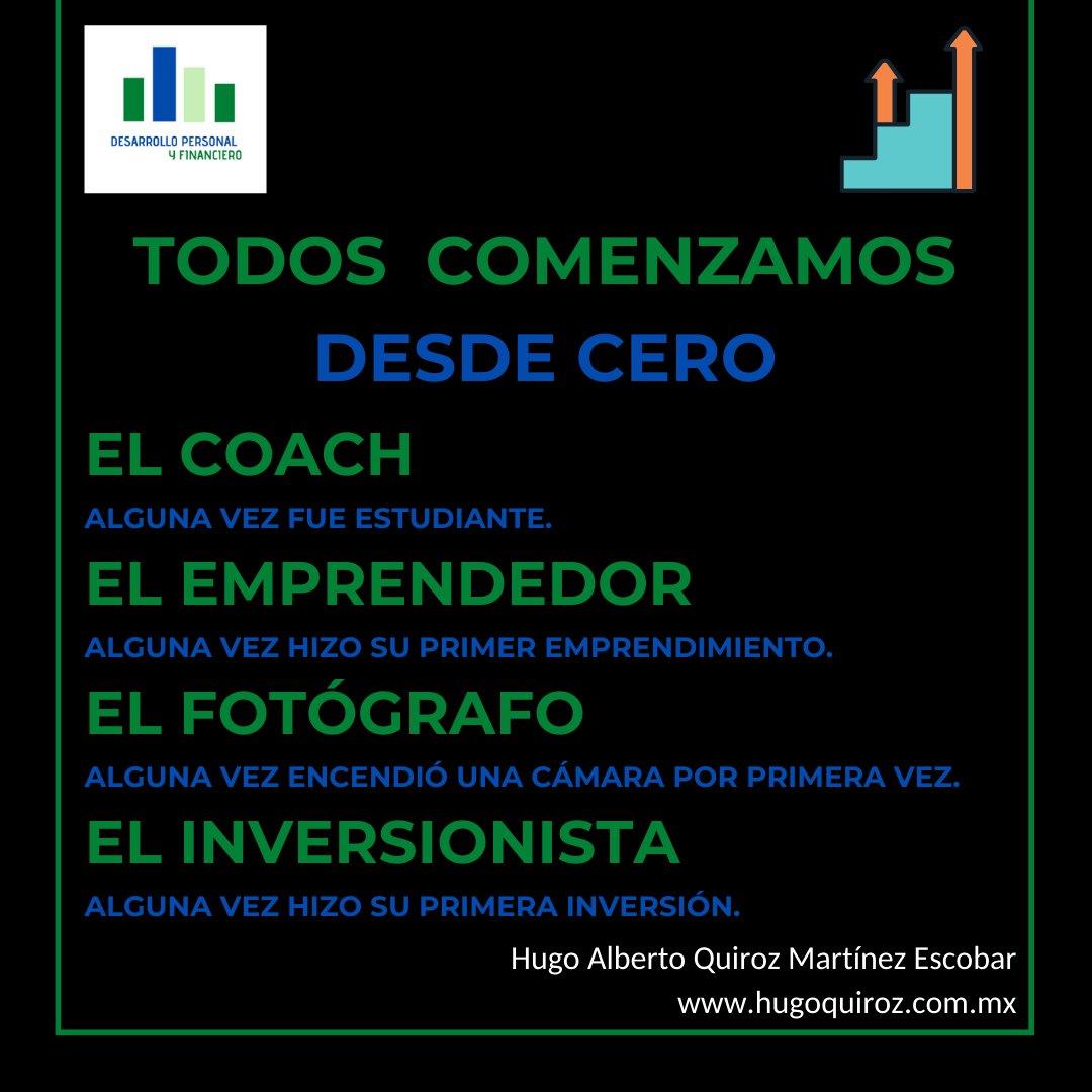 #DesarrolloPersonalyFinanciero #HugoQuiroz  #Consejos #Comenzar #Coach #Estudiante #Emprendedor #Emprendimiento #Fotógrafo #Cámara #Inversión #Inversionista #Hábitos #Vida #SuperaciónPersonal #CrecimientoPersonal #DesarrolloHumano https://t.co/1wzz6FtwF7 https://t.co/TkC5CgN43f