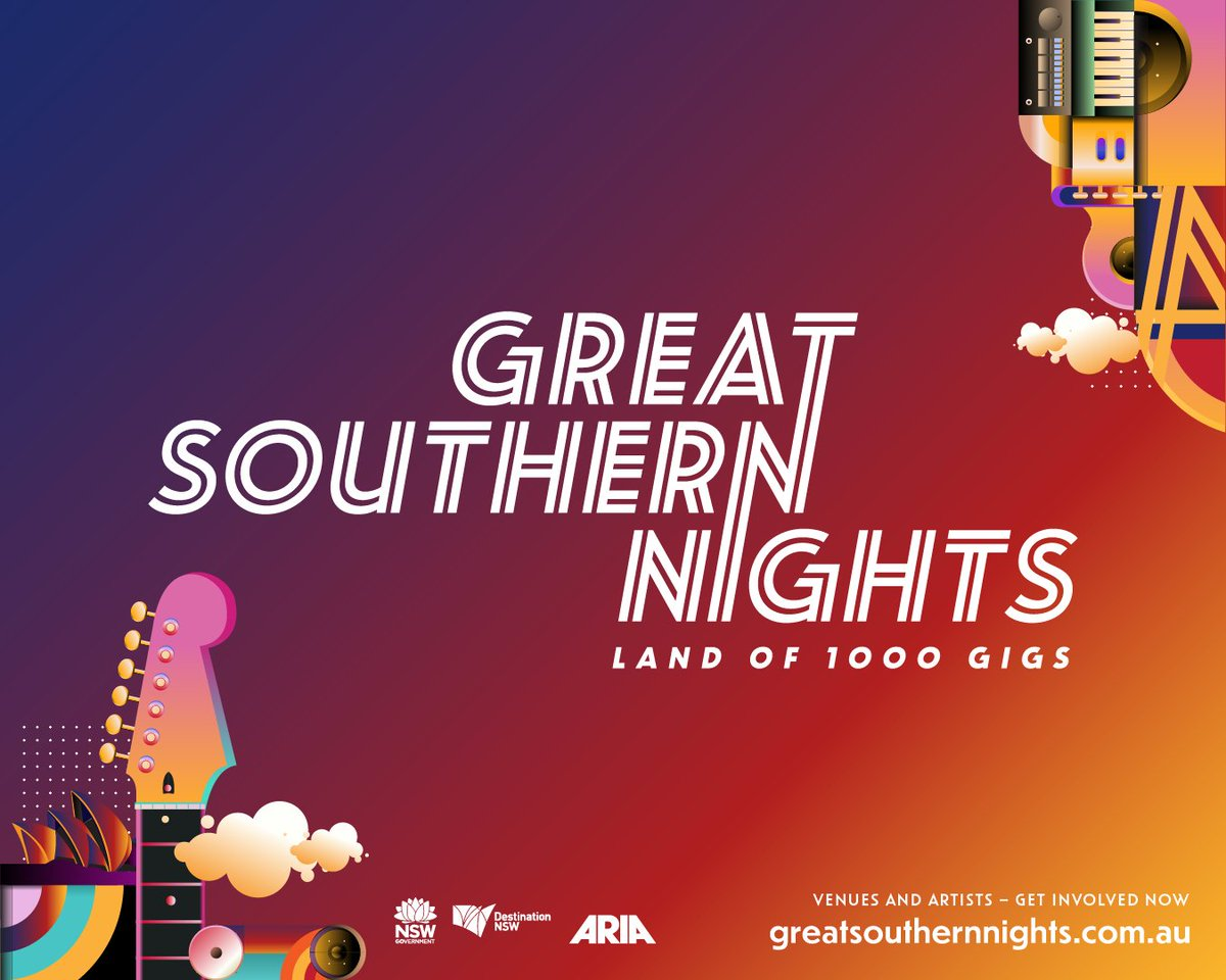🎫GREAT SOUTHERN NIGHTS TICKETS NOW ON SALE  November is set to be a mammoth month for the music industry in NSW with 1000 COVID-safe gigs to take place across Greater Sydney and 130+ NSW towns.  For more info visit https://t.co/kWGz3vkgSD https://t.co/kIVkB2QJ9L