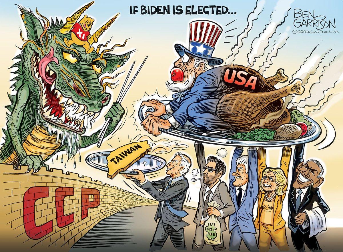 #IslamJoe's America. Cartoon by Ben Garrison 22 October 2020 #ChineseVirus #ChinaLiedPeopleDie #ChinaMustPay #WuFlu #Batvirus #covid19 #coronavirus https://t.co/7FzWW3xHC1 https://t.co/HqfVE8jiZy