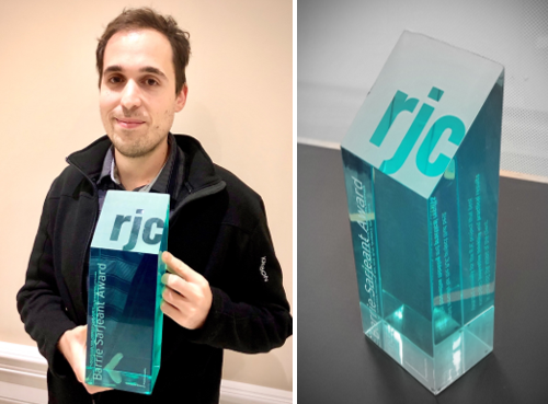 Congrats Jonathan Rebelo, on winning this year's Barrie Sarjeant Award! https://t.co/j5jb06G0ac #Engineering #innovation #Award @cityoftoronto  #ShelterRenovationProject https://t.co/B14LdHZ0QA